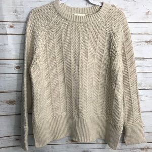 H & M Chunk Cable Knit Sweater Split Sleev…